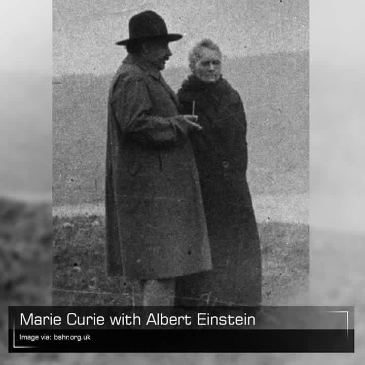 Marie Curie and Albert Einstein
